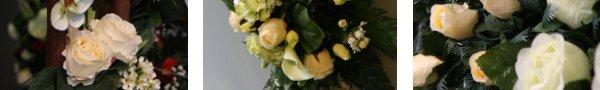 Large choix de fleurs en soie